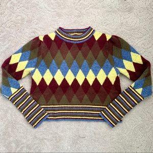 ZARA BASIC Cropped Cozy Knit Sweater Size S